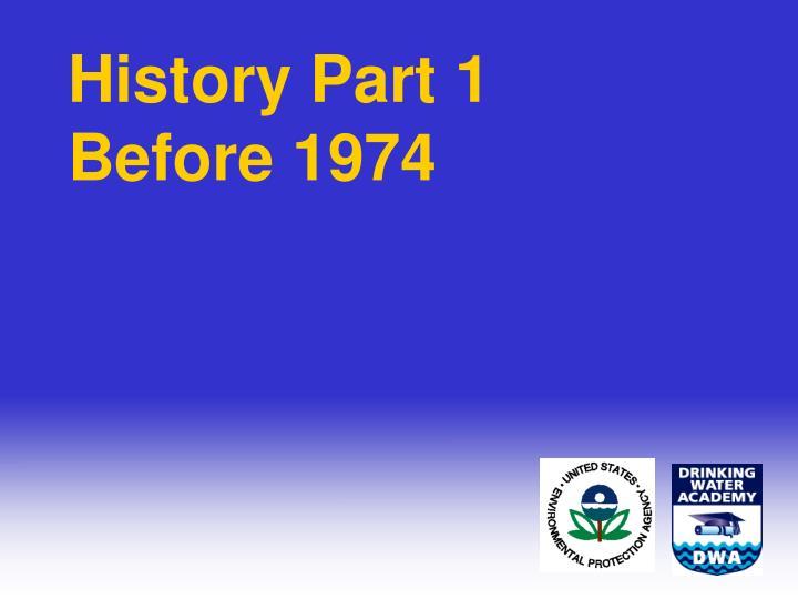 History Part 1