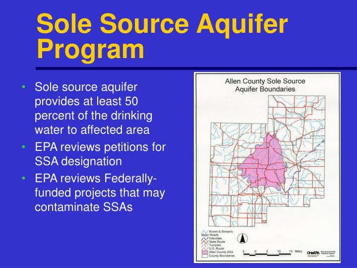 Sole Source Aquifer Program