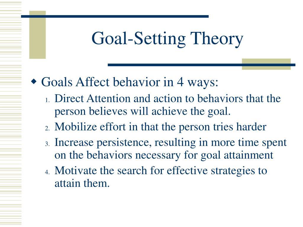 Goal-Setting Theory