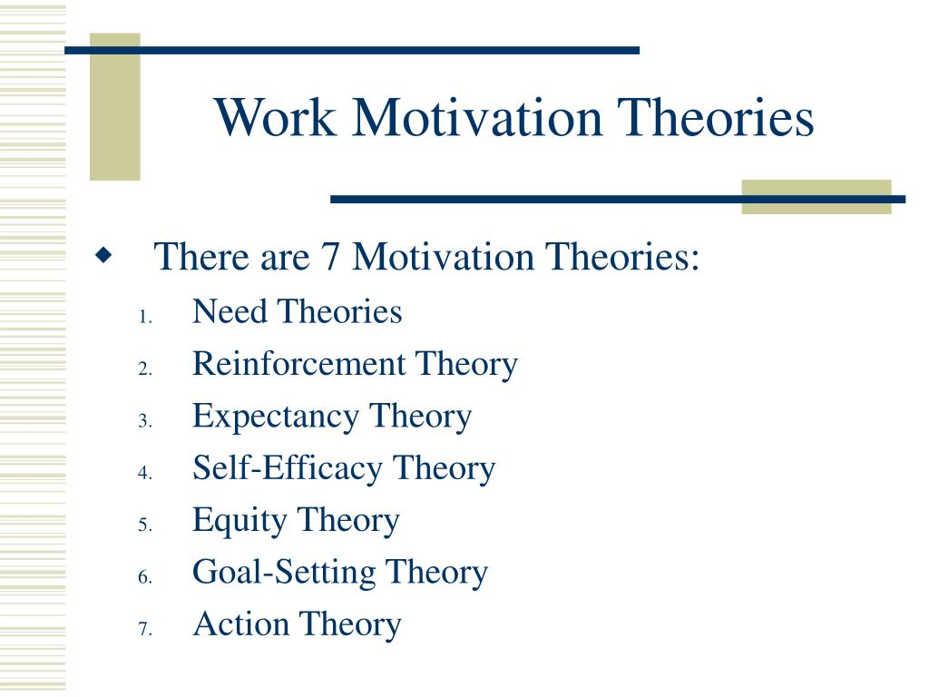 Work Motivation Theories