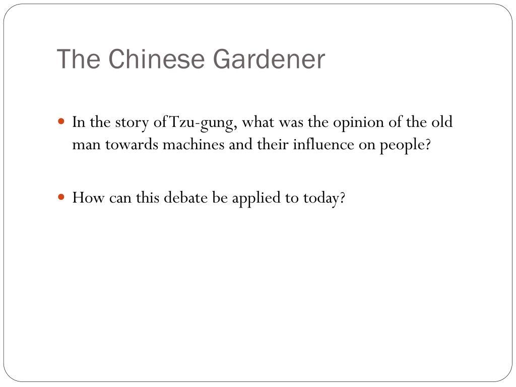 The Chinese Gardener