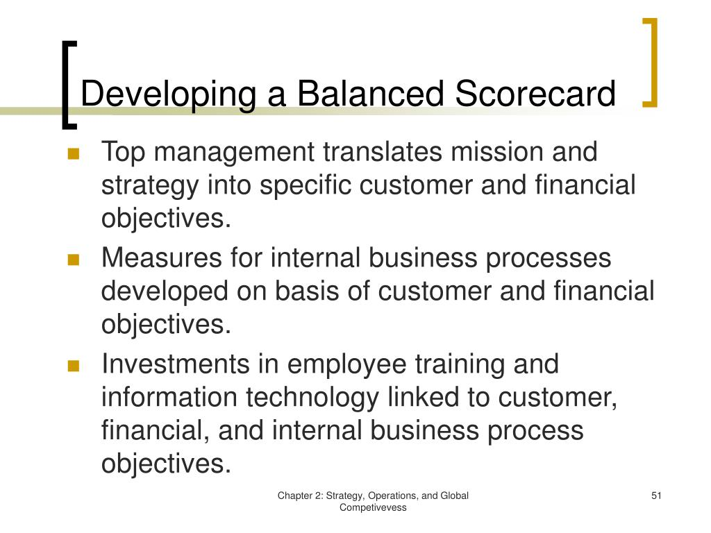 Developing a Balanced Scorecard