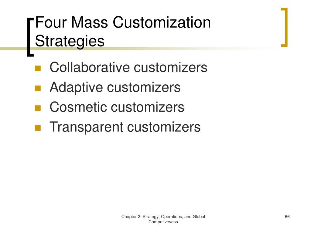 Four Mass Customization Strategies