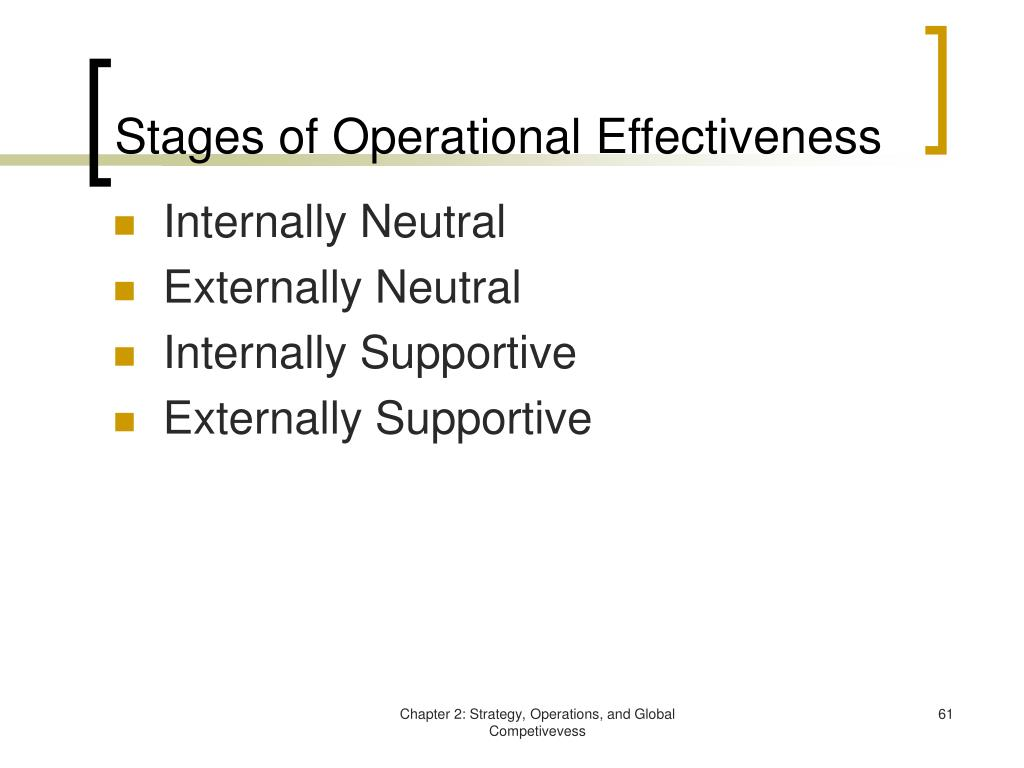Stages of Operational Effectiveness