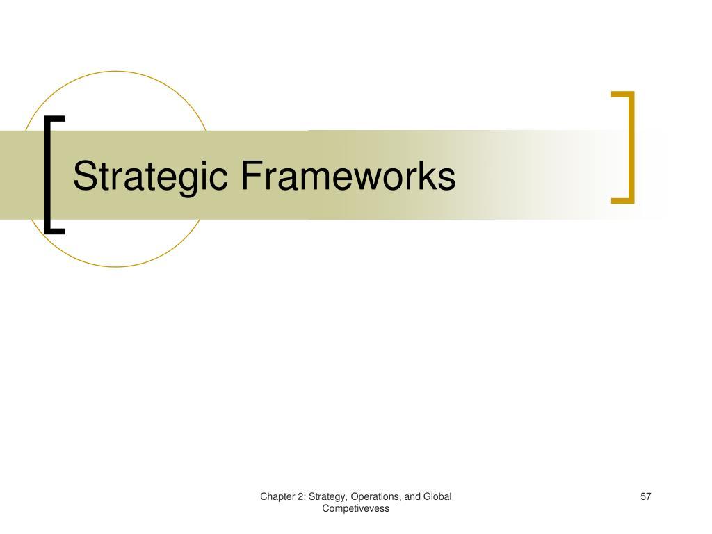 Strategic Frameworks
