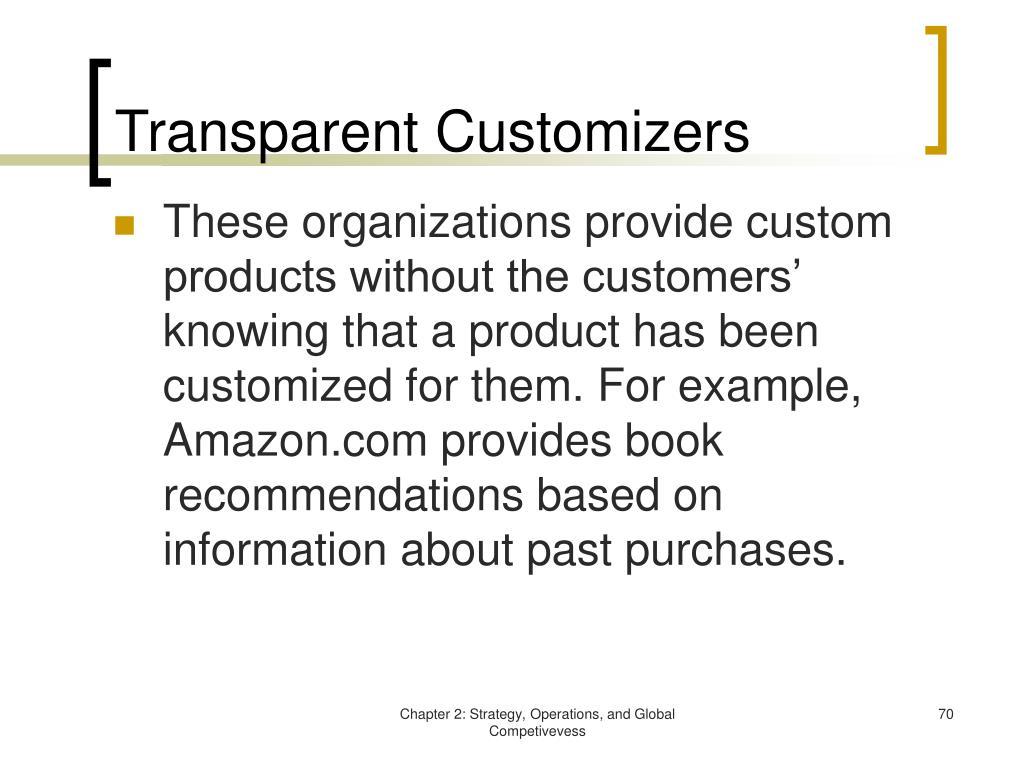 Transparent Customizers