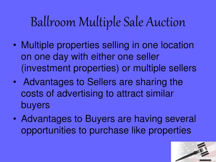 Ballroom Multiple Sale Auction