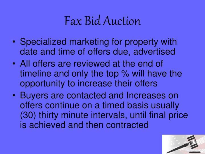 Fax Bid Auction