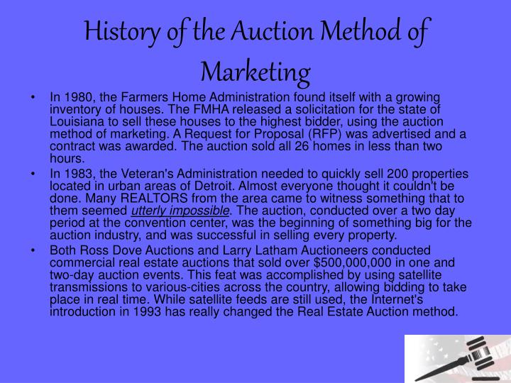 History of the auction method of marketing1