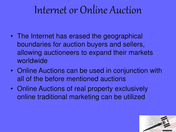 Internet or Online Auction