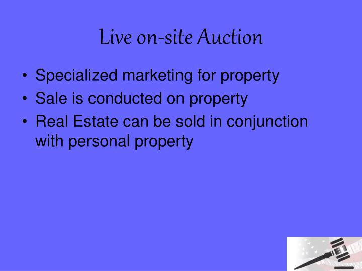 Live on-site Auction