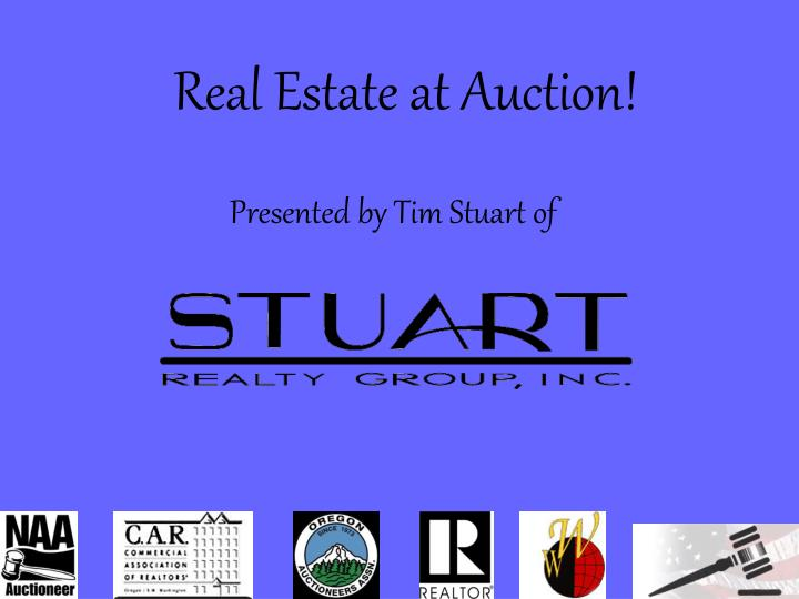 Real Estate at Auction!