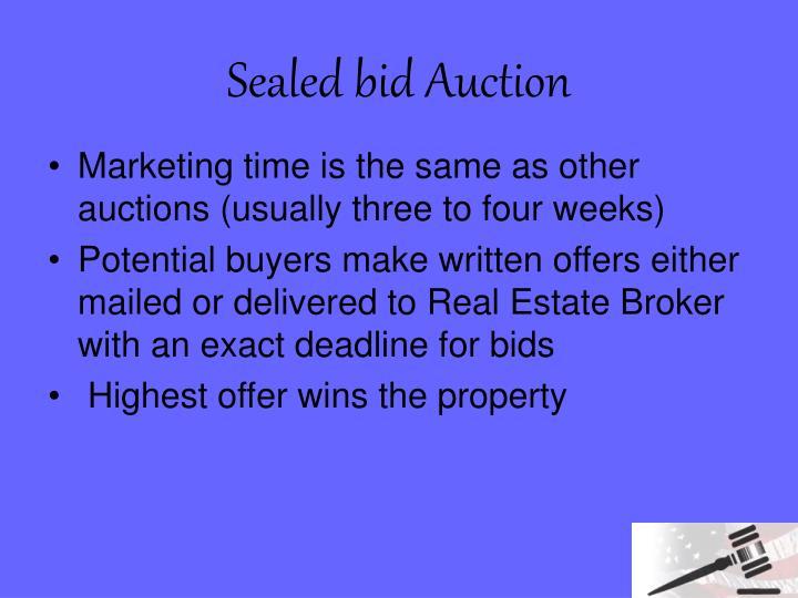 Sealed bid Auction