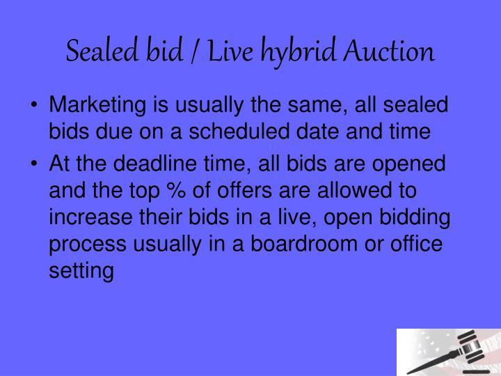 Sealed bid / Live hybrid Auction