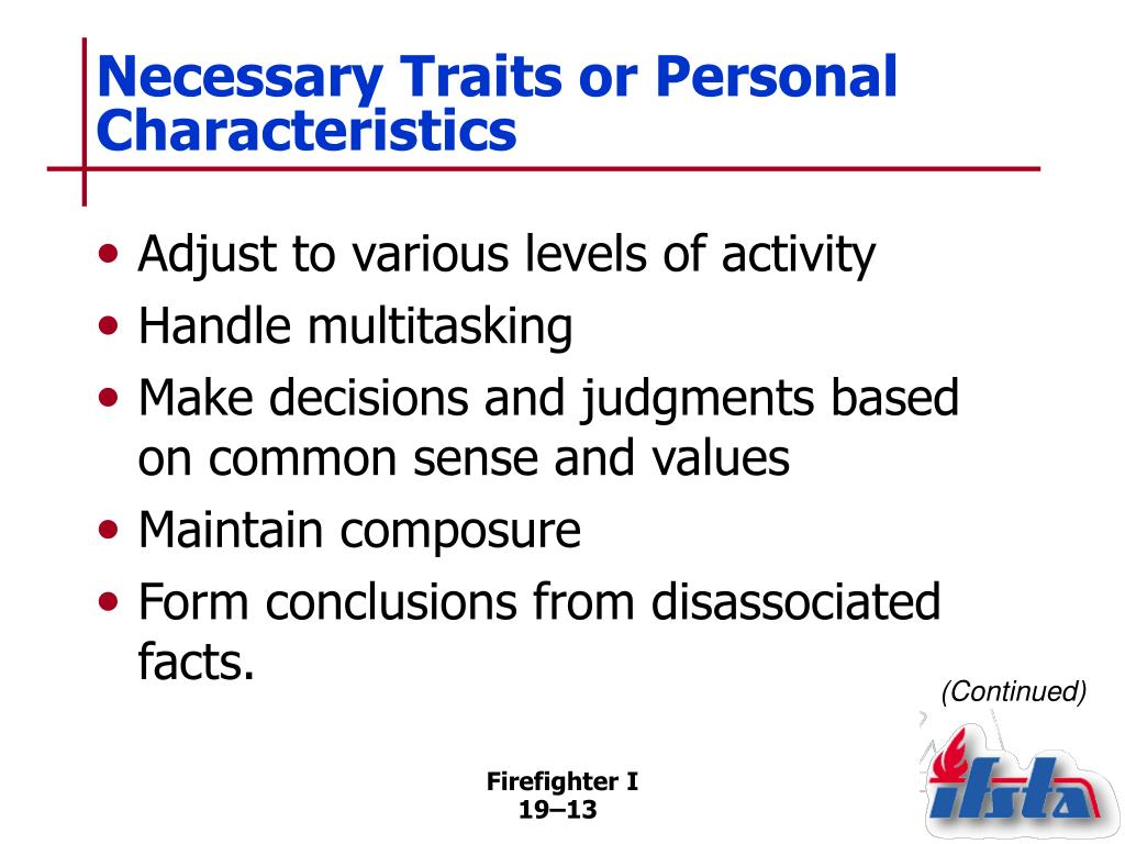 career personality traits essay