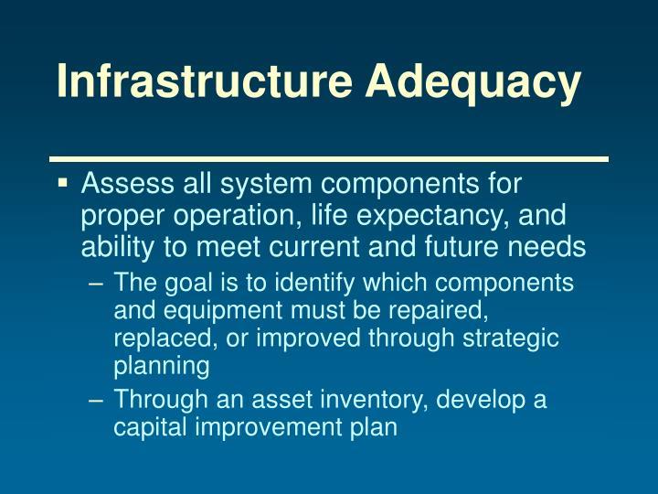 Infrastructure Adequacy