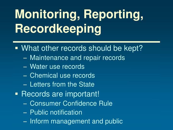 Monitoring, Reporting, Recordkeeping