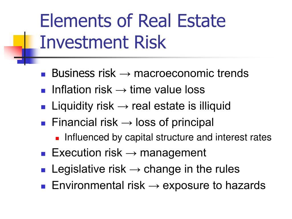 risk and return on real estate Free essay: commercial real estate return performance: a cross-country analysis by david c ling and andy naranjo department of finance, insurance, and.