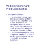 market efficiency and profit opportunities2