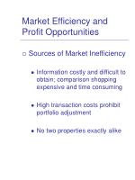 market efficiency and profit opportunities4