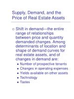 supply demand and the price of real estate assets2