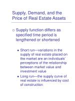 supply demand and the price of real estate assets5
