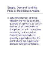 supply demand and the price of real estate assets7