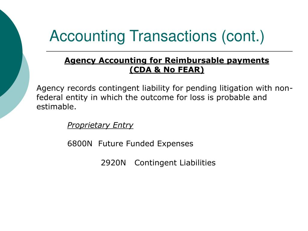 Accounting Transactions (cont.)