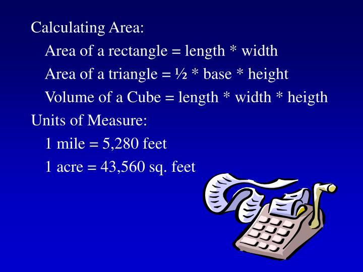 Calculating Area: