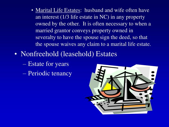Marital Life Estates
