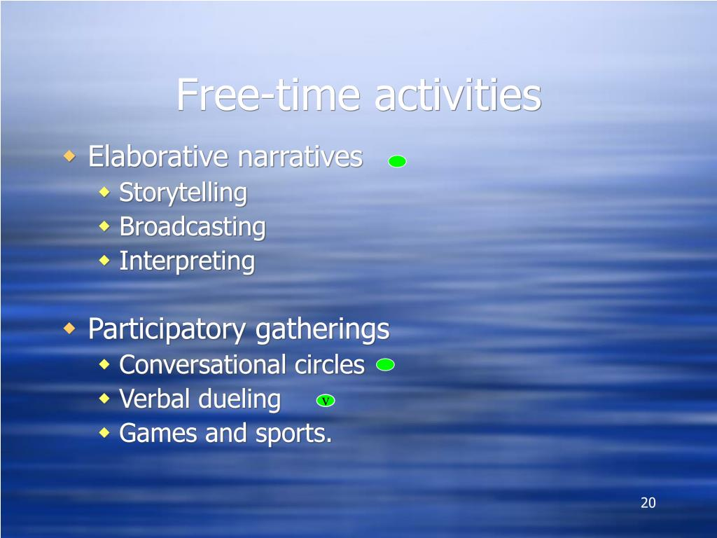 Free-time activities