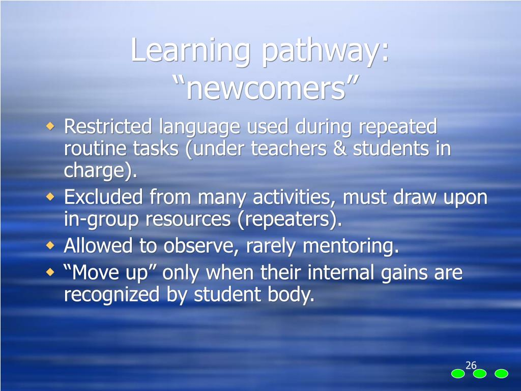 Learning pathway: