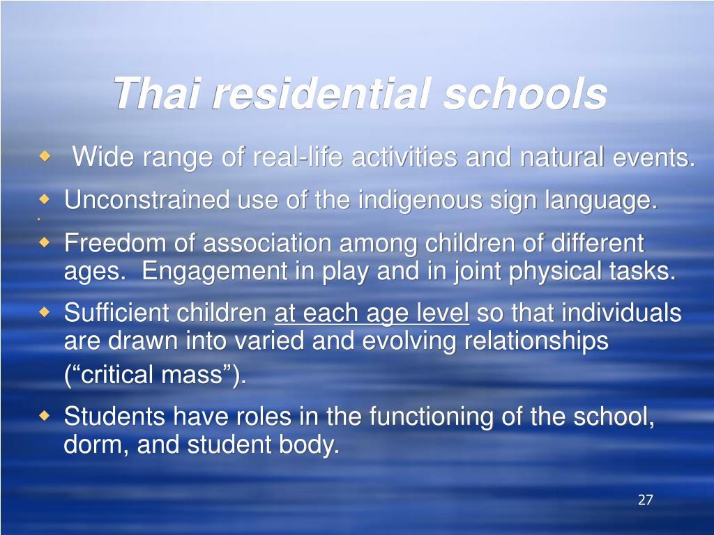Thai residential schools