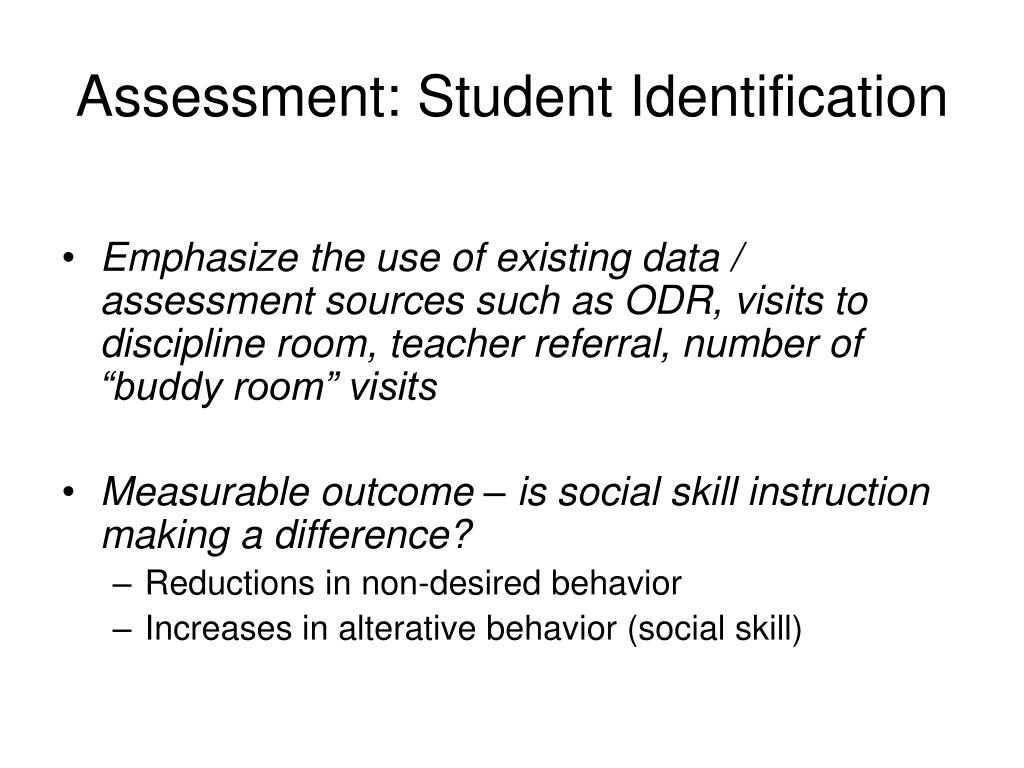 Assessment: Student Identification