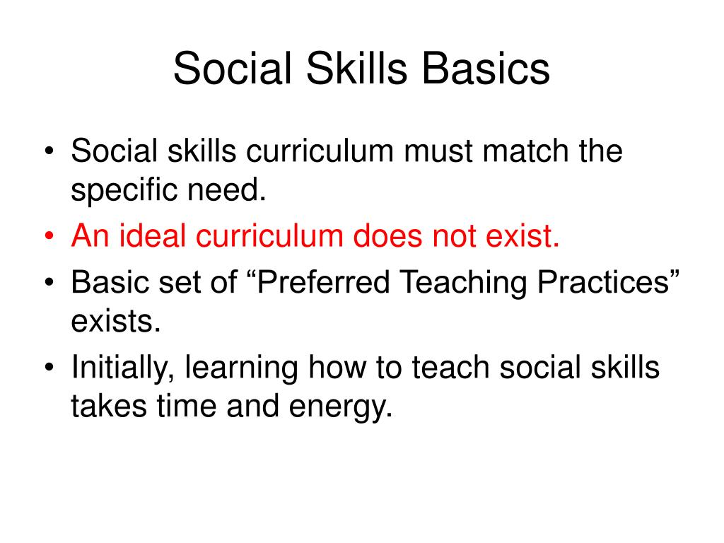 Social Skills Basics