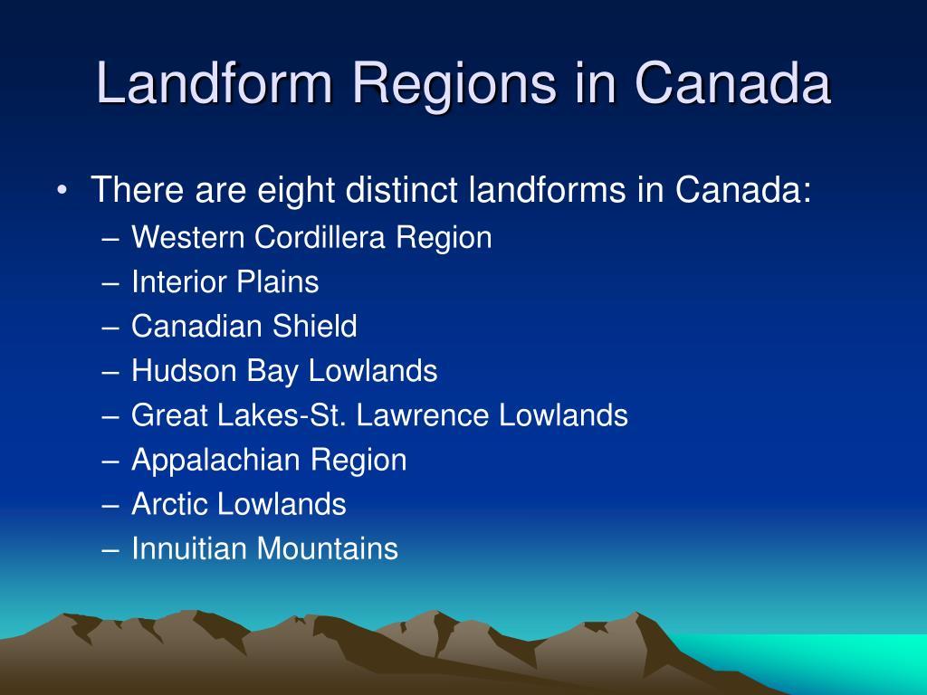 Landform Regions in Canada