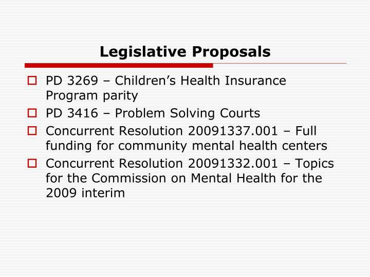 Legislative Proposals