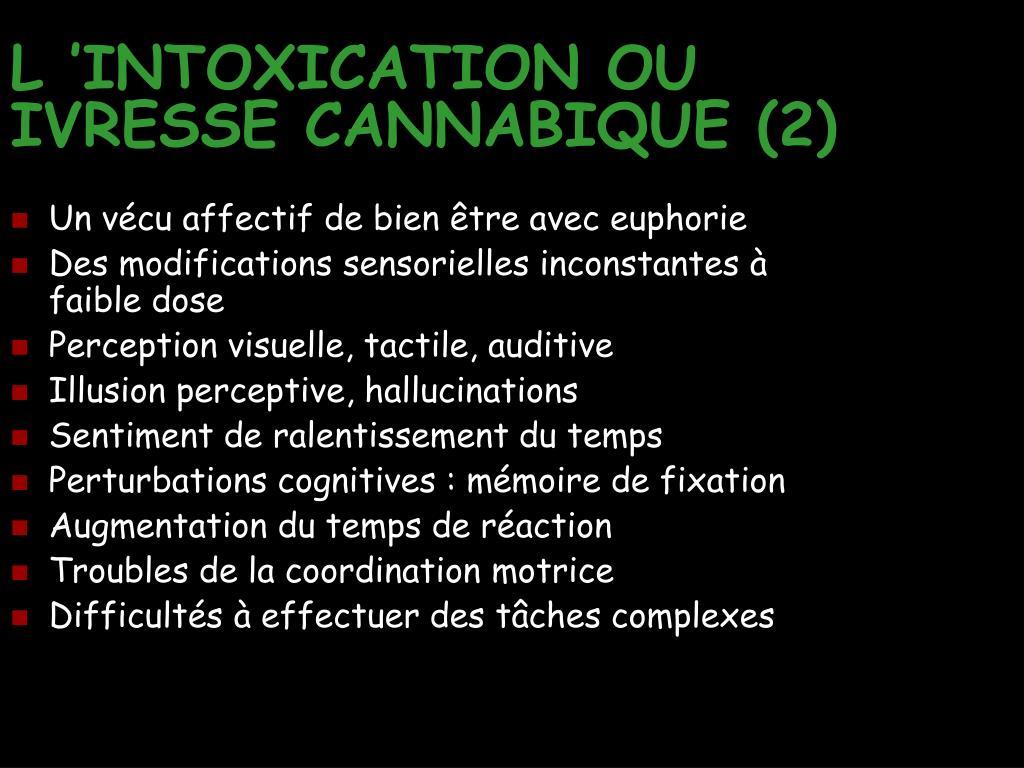 ppt les pathologies du cannabis powerpoint presentation id 309909. Black Bedroom Furniture Sets. Home Design Ideas