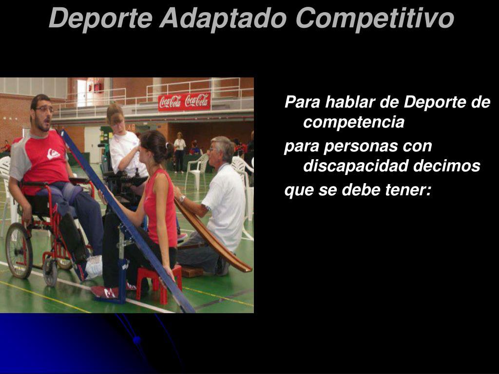 Para hablar de Deporte de competencia