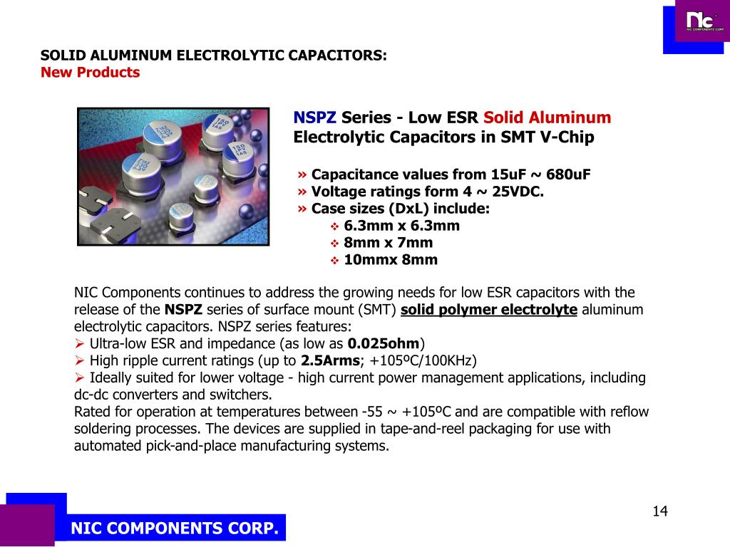 SOLID ALUMINUM ELECTROLYTIC CAPACITORS