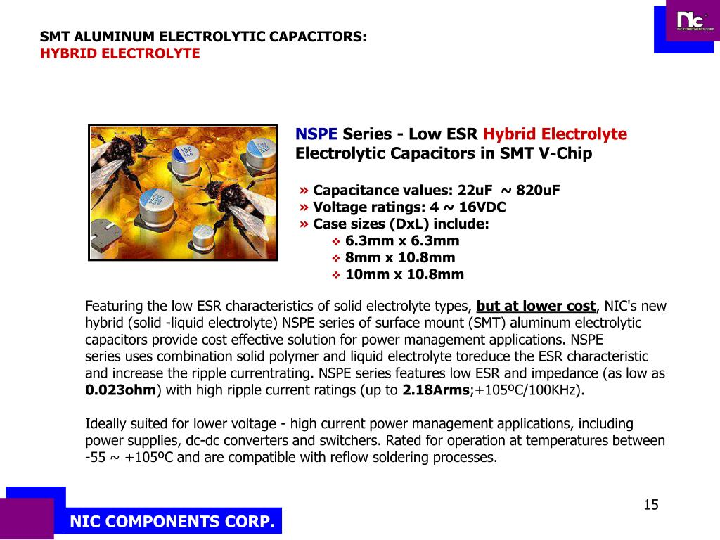 SMT ALUMINUM ELECTROLYTIC CAPACITORS