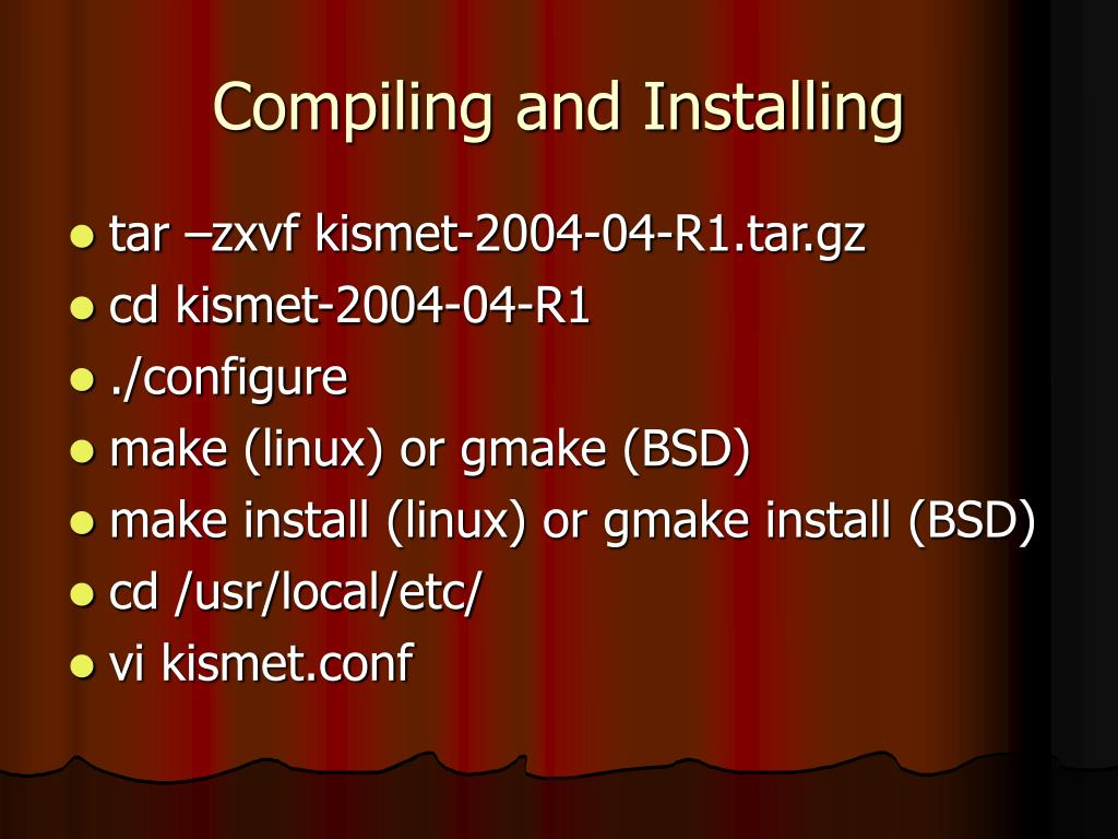 Compiling and Installing