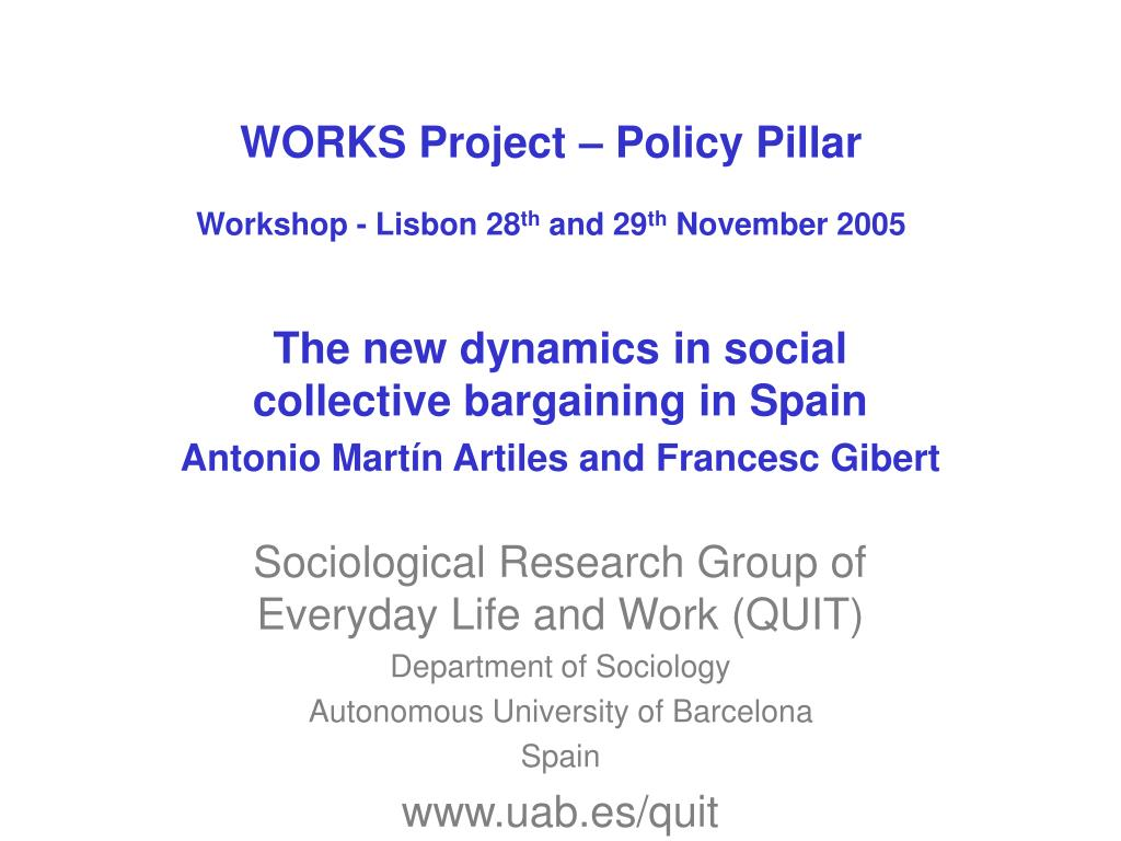 WORKS Project – Policy Pillar