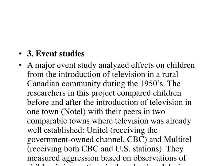 3. Event studies