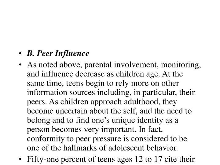 B. Peer Influence