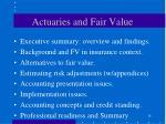 actuaries and fair value18