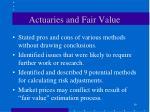 actuaries and fair value19