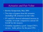 actuaries and fair value21