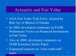 actuaries and fair value23