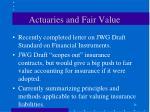 actuaries and fair value24